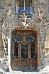 art nouveau doorway