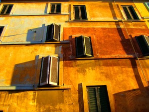 sunlit-rome-wall